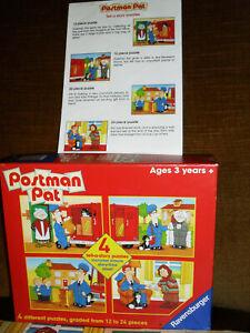 Vintage Postman Pat 4 Tell a Story Puzzles Circa 1998 Ravensburger Rare