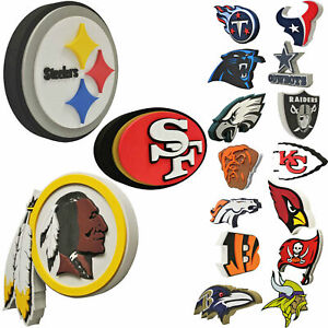 NFL 3D Foam Man Cave Wall Sign Home Office Bar FanFave Made in USA New All Teams
