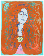 Eva Mudocci 1984 by Andy Warhol A1 High Quality Canvas Art Print