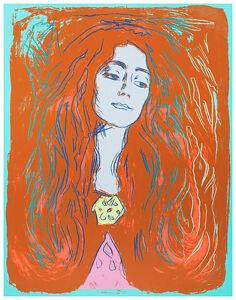 Eva Mudocci 1984 by Andy Warhol A1 High Quality Canvas Art Print