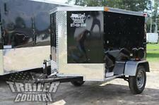 NEW 2020 4x6 4 x 6 V-Nosed Enclosed Cargo Motorcycle Bike Trailer