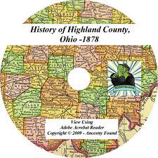 1878 History & Genealogy of HIGHLAND County Ohio OH
