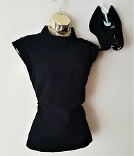 Ted Baker Black Gorgeous Ruffle Sleeveless Evening Blouse Top Size 10 (TB2)