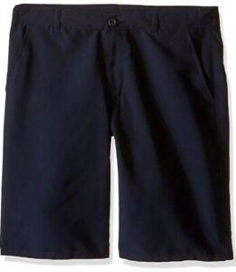 Boy Nautica Uniform Shorts Moistire Wicking Adjust Waist Sz 14 Navy Blue NWT