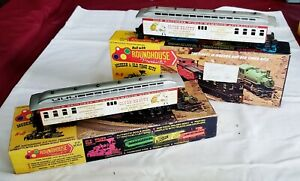 5041 & 5051 Cole Bros Train Cars Roundhouse Built HO Scale Boxcar & Business