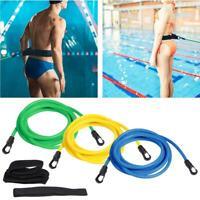 Swim Trainer Belt Swimming Resistance Tether Leash Pool Training Aid Harness AU
