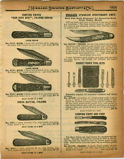 1926 PAPER AD OVB Our Very Best Folding Pocket Hunting Knife Press Button