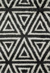 7'x10' Loloi Rug Cosma 50% Polypropylene Polyester Charcoal Ivory Power Loomed C