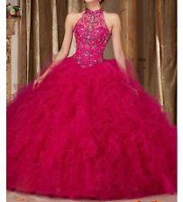 New Beaded Quinceanera Dress Ball Gown Formal Prom Party Wedding Dresses Custom
