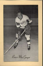 1944-63 BEEHIVE GROUP 2 PHOTOS   BRUCE MACGREGOR DETROIT RED WINGS EX-MT F2512