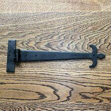 COPPIA da 18 Pollici T Cerniere Tee Cerniera Cinturino Cerniere Nero Vintage ferro battuto FDL
