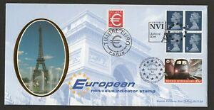 1999 Europe NVI Machin Booklet Pane Benham Silk Cover With Railway Letter Stamp
