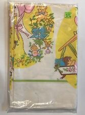 Baby Shower Party Tablecover Paper Table Cloth Boy Girl Pink Blue Birds Vintage