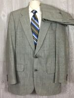 Burberrys Prorsum Mens Glen Plaid 2pc Suit 44 Long 36x33.5 (t9)
