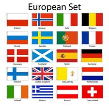 European Europe 3x5 Flag Set of 20 Country Countries Polyester Flags grommets