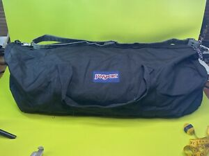 "Large 30""x 13"" Jansport Duffle Bag Rare Huge Bag Travel Bag Black"