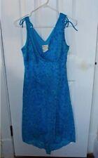 Laura Petites TURQUOISE CHIFFON DRESS - size 10