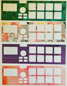 4 Pack Of Assorted Design Overlays For Akai MPX8 Portable Sampler (by Novalays)