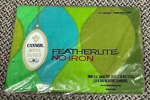Vintage Mid Century Cannon Royal Family Mod Twin Flat Sheet Brand New In Package