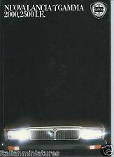 Lancia Gamma Coupe 2000 2500 I E Nuova Brochure Prospekt  Italiano 1988