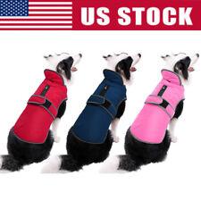 Waterproof Fleece Warm Pet Dog Coat Winter Jacket Clothes Sweater Reflective Usa