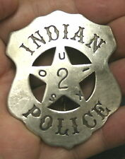 Reproduced Solid <> SOUIX INDIAN POLICE <> Badge - Shield Shape with Star Center