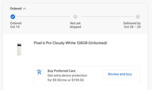 [Pre-order] Google Pixel 6 Pro White 128GB (Unlocked) - Worldwide Shipping 10/28
