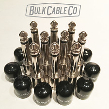 GEORGE L's - 10 PACK - Right Angle Connectors - 10 Rubber Caps - Black Jackets