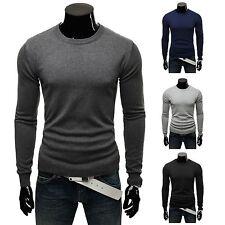 Feine Herren-Pullover & -Strickware mit Rundhals und Unifarben ohne Verschluss