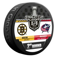 Columbus Blue Jackets 2019 Boston Bruins Stanley Cup Playoff Hockey Puck