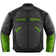 Giacche traspirante verde in pelle per motociclista