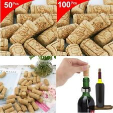 50/100Pcs Natural Cork Wine Bottle Stopper Wooden Bottling Wine Making Tools