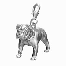 Bulldog Sterling Silver Dog Charm