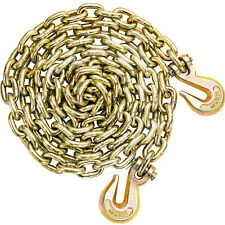 "Tow Chain Tie Down Binder Flat With Grade 70 Hooks 3/8"" 10.5ft Safety Trailer"