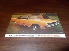 1971 Dodge Dart Swinger Advertising Postcard