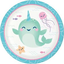 Narwhal Party Dessert Plates, 24 Count