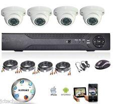 Vidéo surveillance AHD 720P, 4 caméras dôme, enregistreur hybride analogique/ IP