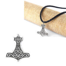 10pcs  Celtic Knot Trinity Nordic Thor's Hammer Emboss Charms Jewelry Pendant