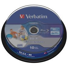 Verbatim Blu-Ray 25GB   Recordable Blank BD-R Discs Inkjet Printable In Sleeves