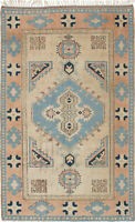 "Hand-knotted Turkish Carpet 5'10"" x 9'2"" Ushak Traditional Wool Rug"