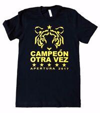 Tigres de la UANL Mens 2017 Campeon Otra Vez Apertura Champions T Shirt S-5XL