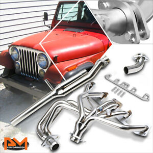 For 81-83 Jeep CJ5/81-86 CJ7 4.2L L6 Stainless Exhaust Header Manifold+Y-Pipe