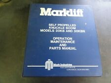 Marklift 30KB 30KBN Knuckle Boom Lift Operation Maintenance Parts Manual