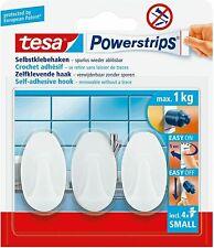 tesa Powerstrips Haken SMALL Trend weiß Inhalt 3 Haken und 4 Strips