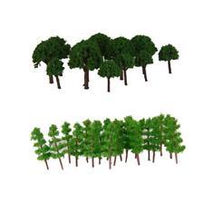 150x Plastic Tree Models Painted 1:400-500 Z Train Railway Scenery Building