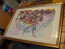vintage Framed Art-Walter Spitzer Lithograph, signed and numbered
