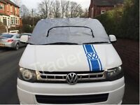 VW T5 Campervan Exterior Thermal Blinds External Windscreen Silver Cover Wrap