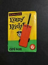 SCANLENS KRAZY KRICKET 1967 FULL UNOPENED WAX PACK