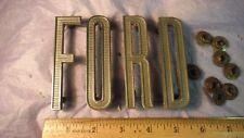 Ford Nose Letter Set Emblems Vintage Metal Script '61-67 #C1UB16606A-D ECONOLINE
