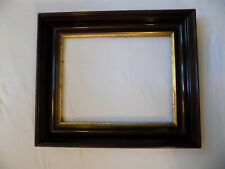 ANTIQUE LARGE DEEP WOOD  PICTURE FRAME GOLD INNER BAND